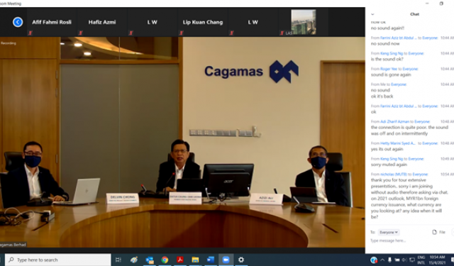 Cagamas Berhad Investor Briefing on the Financial Results for 2020