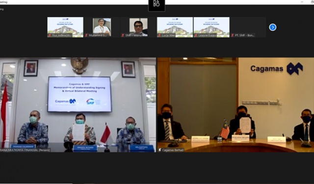 Virtual Signing Ceremony for Memorandum of Understanding and Bilateral Meeting with PT Sarana Multigriya Finansial (Persero)